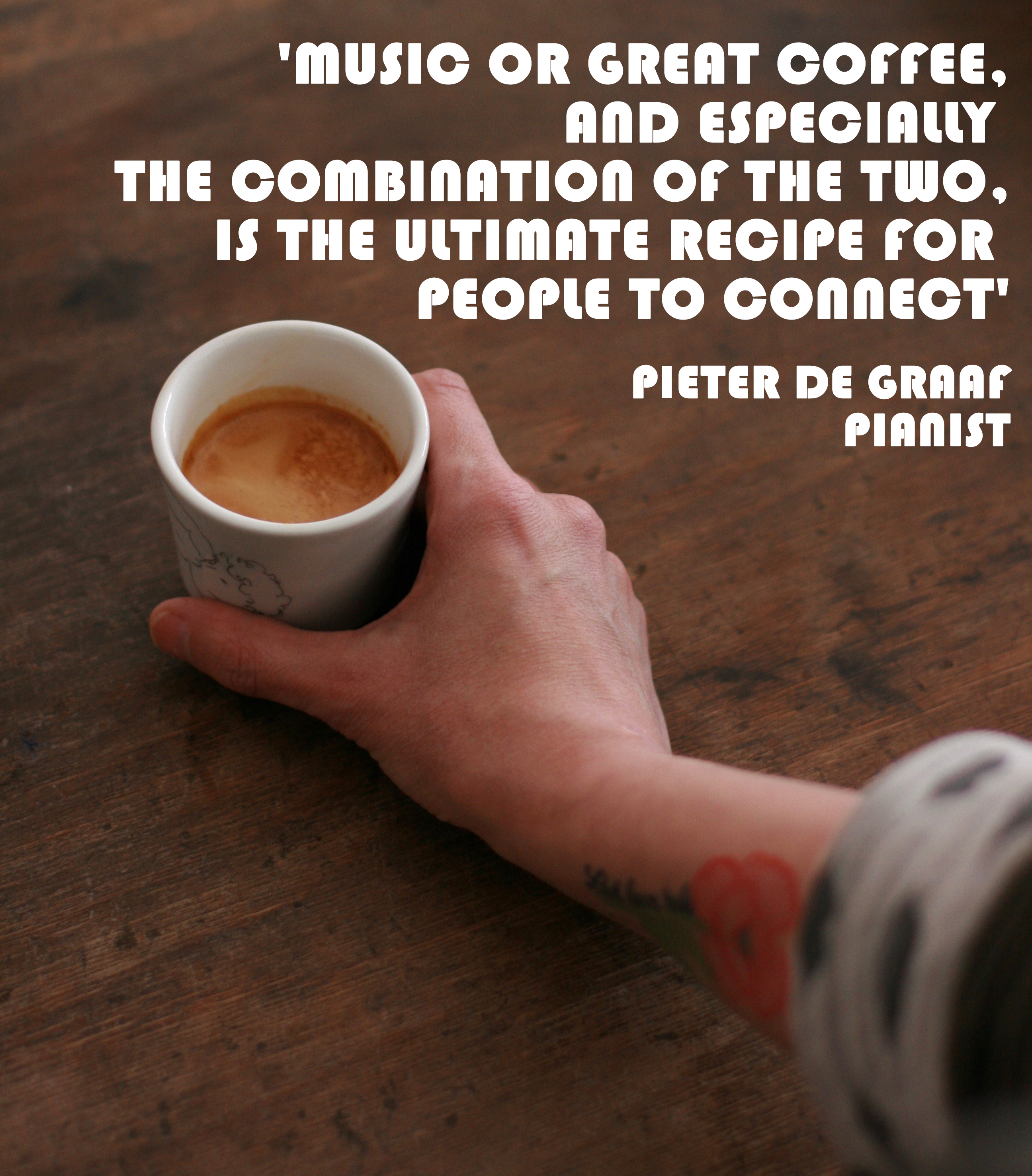 We All Start As Strangers - coffee & quote